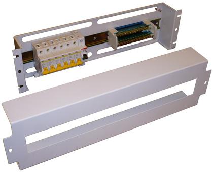 Вводно-распределительное устройство ВРУ (панель электротехническая) 3U, 4U, 5U 19 дюймов
